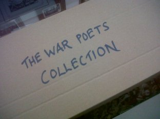 Poppies at the War Poets Centre, Edinburgh Napier University